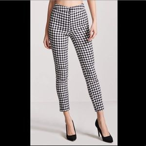 🖤 Forever 21 High Waist Gingham Pants 🖤